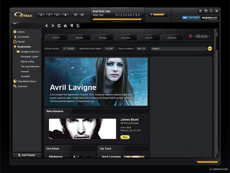 黑色软件界面欣赏之一 - 蓝蓝设计_ui设计公司