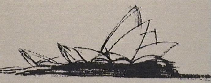 第三个大麻烦几乎使工程被搁置了,悉尼歌剧院的屋顶是由2194块每块重15.3吨的弯曲形混凝土预制件,怎样的力学结构才能让这些水泥砣安全地架在上 面,这是所有结构工程师不曾遇到的挑战,大家都没了信心,这是掉脑袋的活呀。主意还是来自门外汉,乌特松看见孩子玩的提线木偶,放在桌子上的时候是一滩烂 泥,把线体起来就精神抖擞了。最后工程师们用钢缆把所有的预制构建拉紧拼成的一体,屋顶的重力被每一个角度的部件分散了,这是建筑业上的一个伟大创举。 第四个大麻烦几乎是无法逾越的,也是工程师们永远解决不了的,那就是预算不准确带